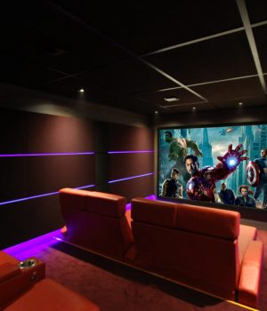 salle de cinéma privée